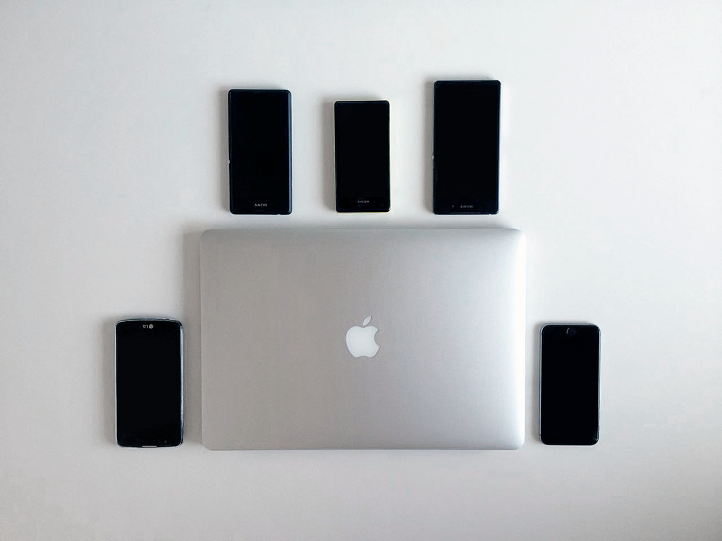 MacBook Pro and mobile devices