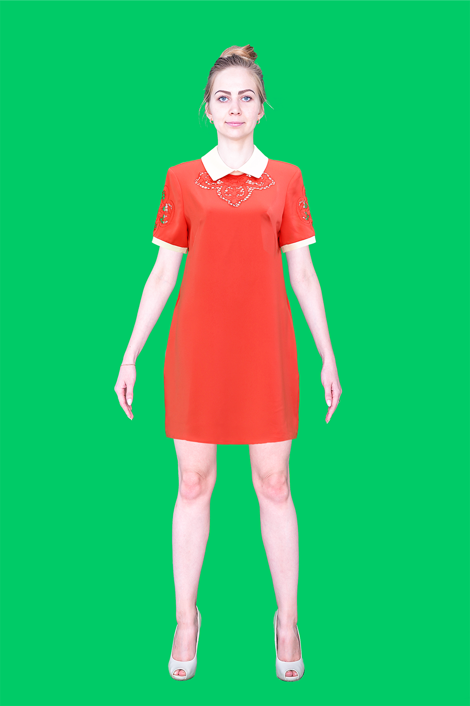 Dress superimposed on photograph